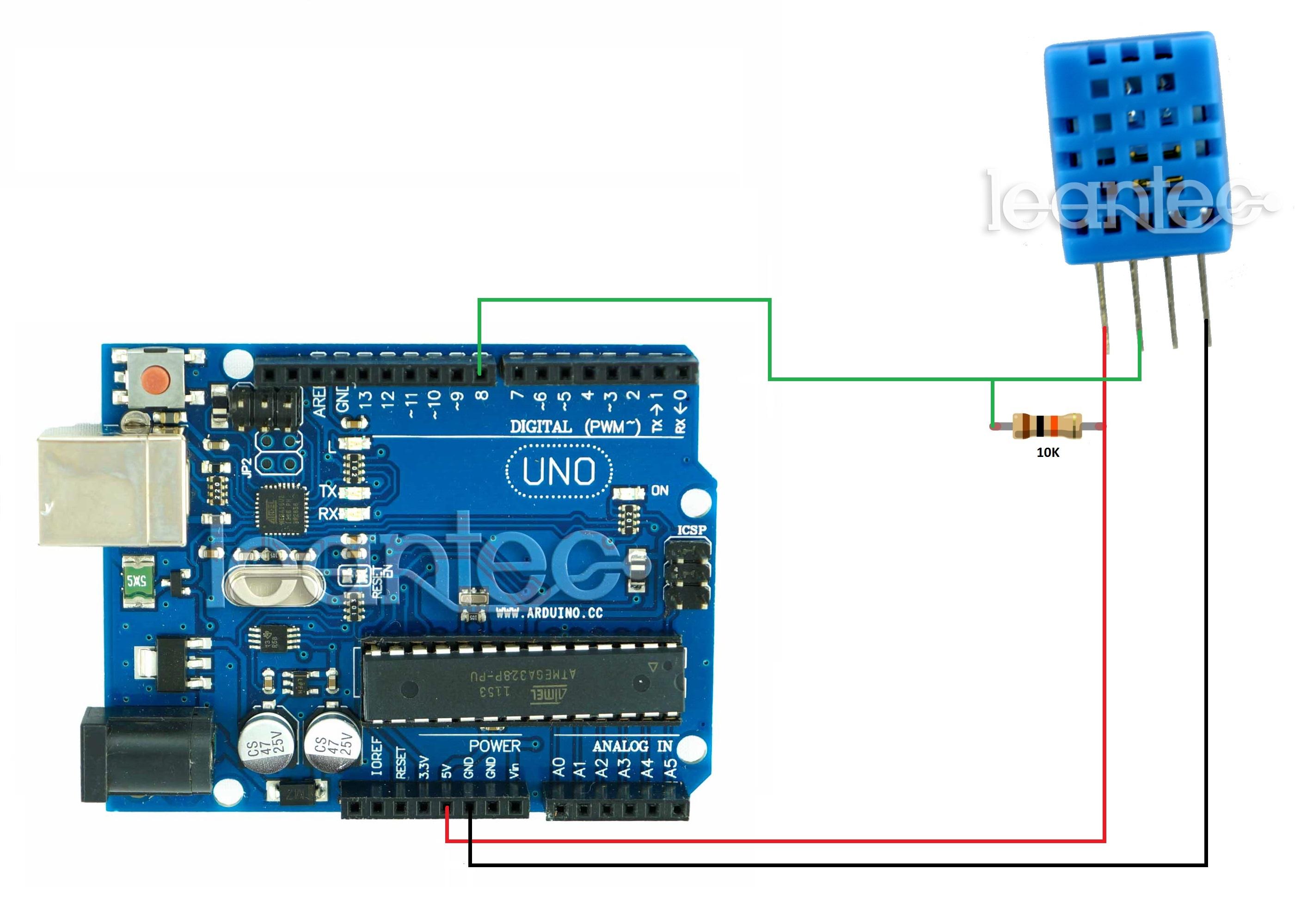 Como medir temperatura y humedad con arduino el sensor dht