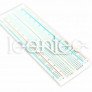 Protoboard, placa de prototipos de 830 contactos.