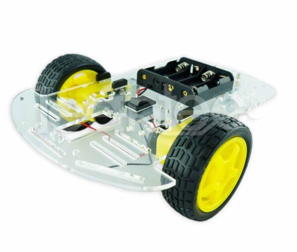 Chasis robot 2WD. Chasis robot de 2 ruedas.