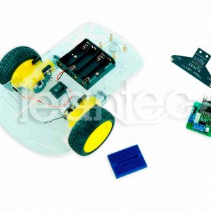 Kit chasis robot 2WD + L298 + LRE-F22 + Protoboard