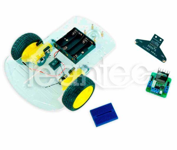 Kit chasis robot 2WD + L298 + LRE-F22 + Protoboard
