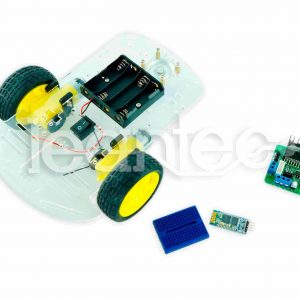 Kit chasis robot 2WD + L298 + Bluetooth + Protoboard