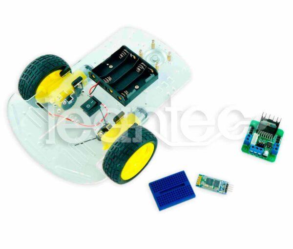 Kit chasis robot 2WD + L298 + Bluetooth + Protoboard