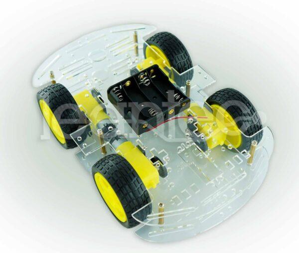 Chasis robot 4WD. Chasis robot de 4 ruedas.