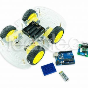 Kit robot de 4 ruedas con bluetooth.
