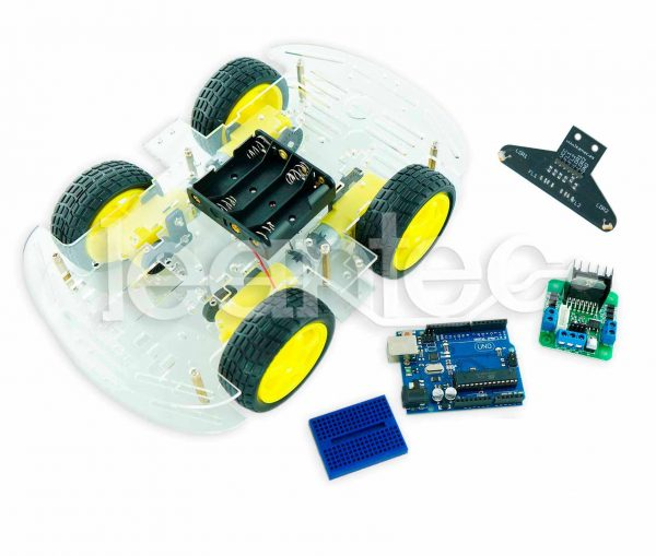 Kit robot de 4 ruedas con sensor LRE-F22.