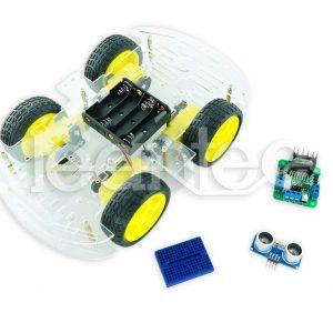 Kit chasis robot 4WD + L298N + HC-SR04 + Protoboard
