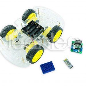 Kit chasis robot 4WD + L298N + Bluetooth + Protoboard