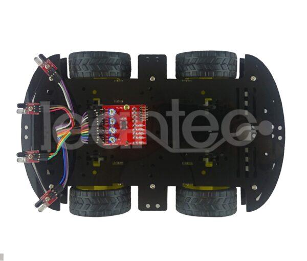 Kit chasis robot 4WD + L298N + Sendor infrarrojo + Protoboard