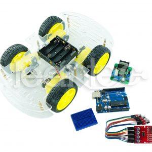 Kit robot de 4 ruedas esquiva objetos con infrarrojo