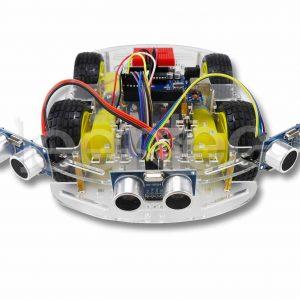 Robot 4WD esquiva objetos con tres sensores