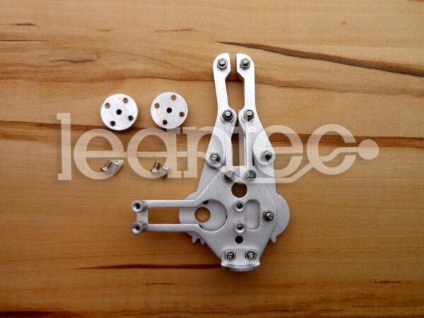 Pinza robótica de Aluminio con servos