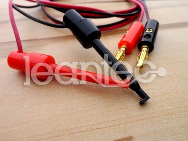 Par de cables con gancho de prueba