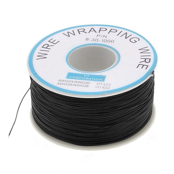 Bobina AWG30 NEGRO 300m Cable Hilo WRAPPING
