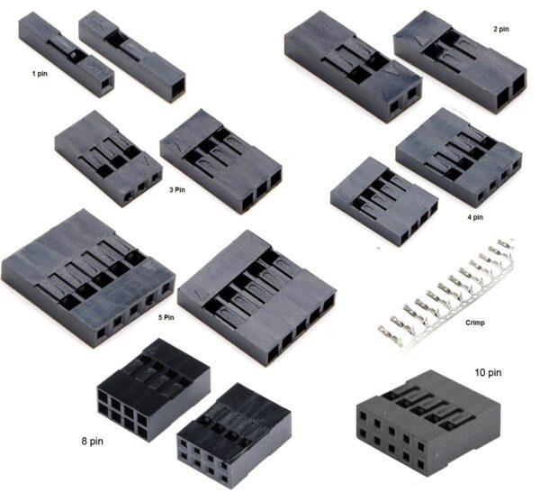 Fundas/Conectores Dupont Jumper 1-2-3-4-5-8-10 Pin a 2.54mm Arduino Robotica