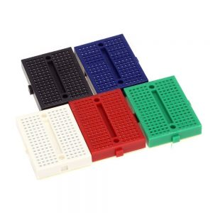 MINI BREADBOARD 170 PUNTOS 5 COLORES DISPONIBLE