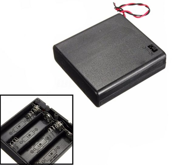 Portapilas Battery holder 4xAA Porta 4 Pilas con interruptor LR06 AA
