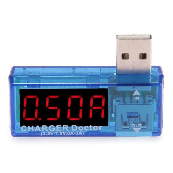 TESTER USB Voltaje Amperios PC Portatiles Voltimetro Amperaje Moviles Coche