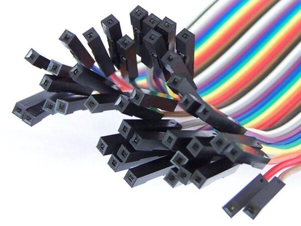 40 Cables 30cm Hembra Hembra jumper dupont 2,54 arduino