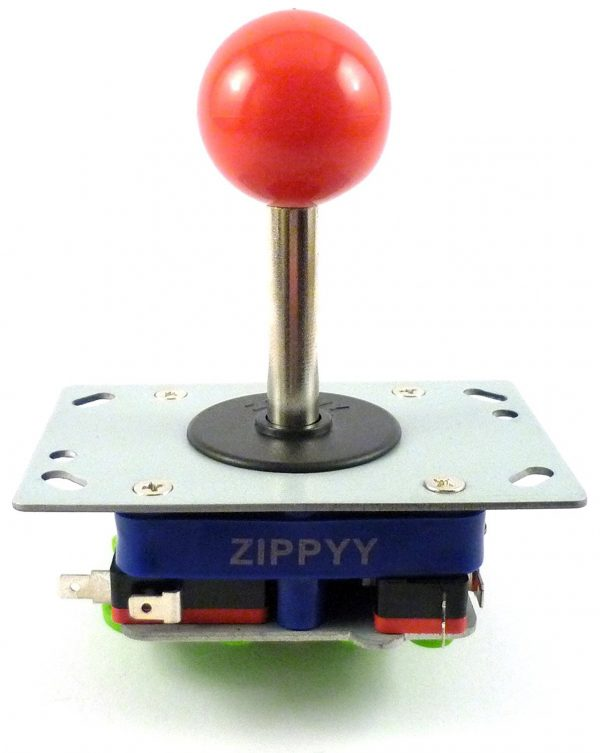 Arcade Joystick Zippy Jamma Eje largo ball 78mm Rojo