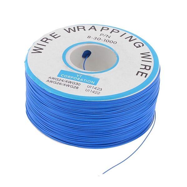 Bobina AWG30 AZUL 300m Cable Hilo WRAPPING