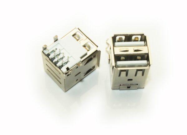CONECTOR USB HEMBRA DOBLE TIPO A PCB SOCKET