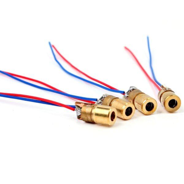 Diodo LASER Rojo 3V 650 nm 5mW 6mm Eletronica Arduino