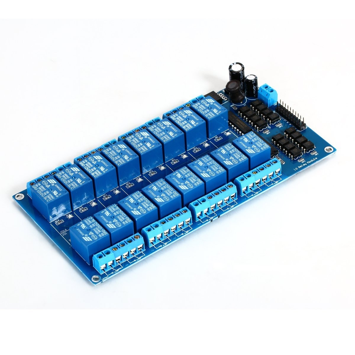 Modulo Rele 12v 10a De 16 Canales Para Arduino Arm Pic Avr Dsp Raspberry