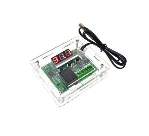 W1209 Termostato + CARCASA para control de temperatura con switch 12v