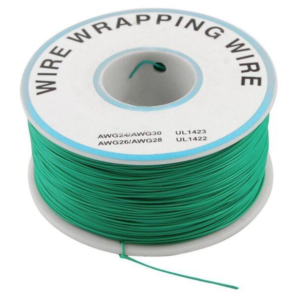 Bobina AWG30 VERDE 300m Cable Hilo WRAPPING