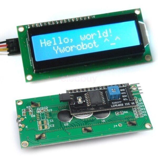 Display LCD 1602 retroiluminado AZUL con modulo IIC/I2C compatible arduino