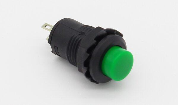 PULSADOR Verde redondo 12mm empotrable boton ON OFF 2 posiciones