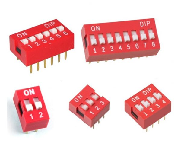 Interruptor Dip Switch 2 3 4 6 8 posiciones 2p 3p 4p 6p 8p ON OFF 2.54mm