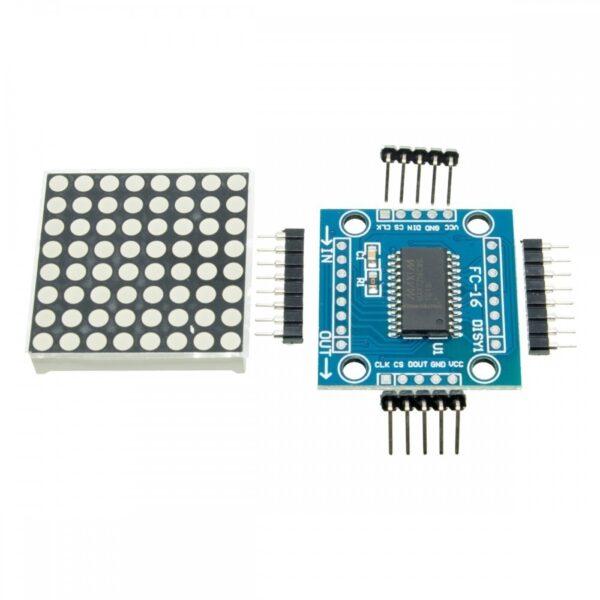 Modulo Matriz 8x8 LED ROJO MAX7219 matrix cascada arduino SMD