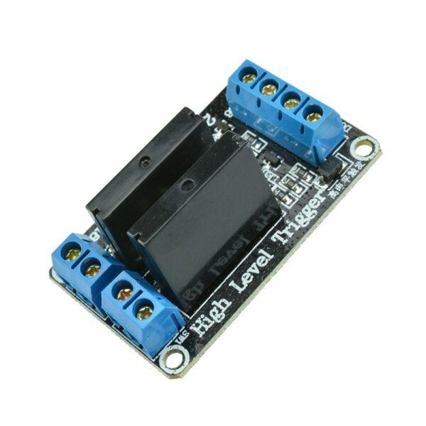 Modulo rele Estado Solido SSR 5v 2 canales G3MB-202P Con Fusible Para Arduino