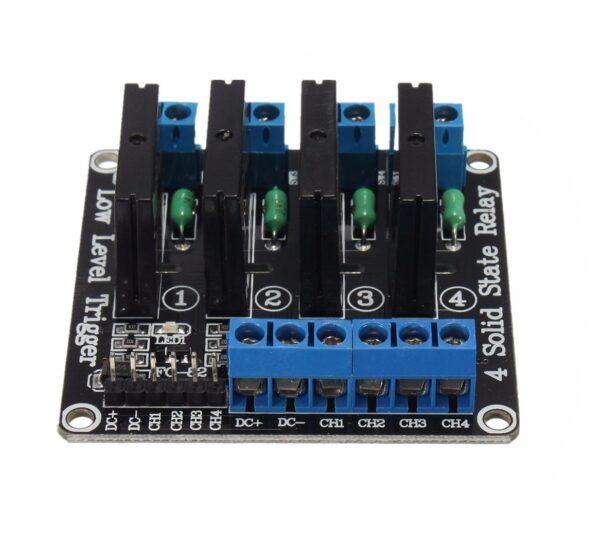 Modulo rele Estado Solido SSR 5v 4 canales G3MB-202P Nivel Bajo Arduino RPI