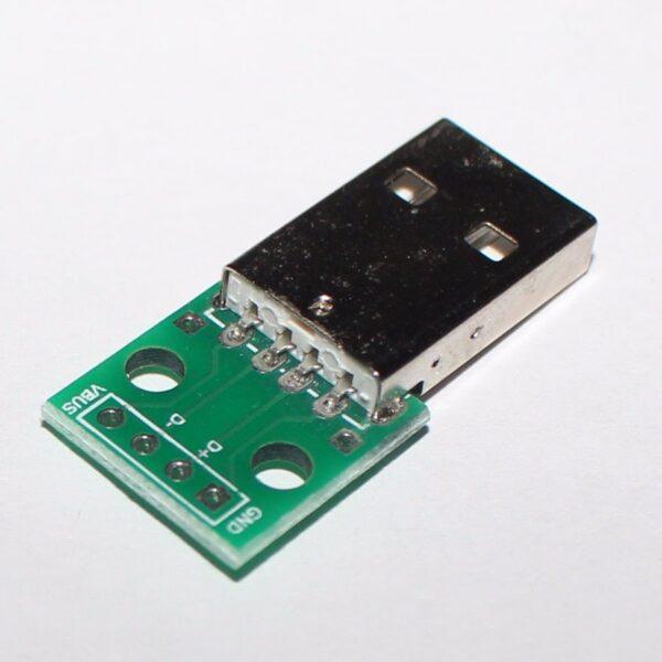 PCB Placa Adaptador Convertidor Conector Macho USB a Dip de 4 Pines 2.54