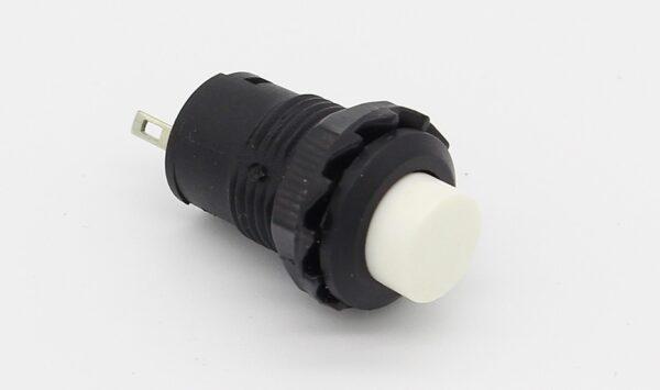 PULSADOR BLANCO redondo 12mm empotrable boton ON OFF 2 posiciones