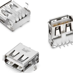 CONECTOR USB hembra tipo A 90 grados para PCB