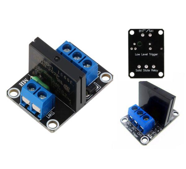 Modulo rele Estado Solido SSR 5v 1 canales G3MB-202P Con Fusible Para Arduino
