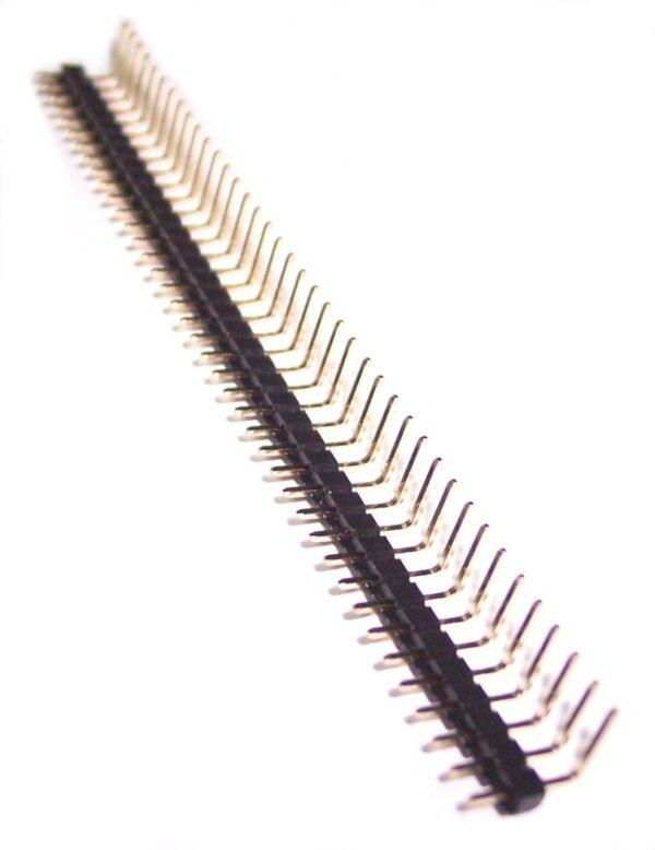 Tira 40 Pines Macho Acodados 2.54 mm 90 grados