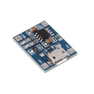 TP4056 1A Modulo cargador de baterias lipo 3.7V via MicroUSB