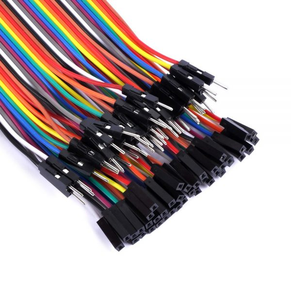 40 CABLES MACHO HEMBRA 10cm jumpers dupont 2,54 arduino