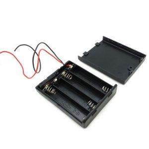 porta pilas 4 X AAA 6V Caja cerrada con Interruptor