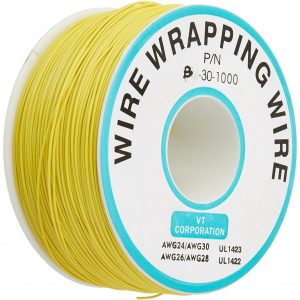 Bobina AWG30 AMARILLO 300m Cable Hilo WRAPPING