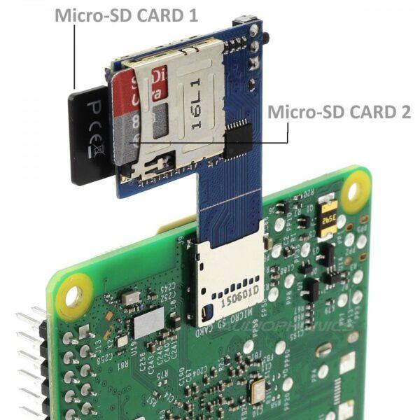 Dual Micro SD 2 en 1 para Raspberry Pi 3 2 B+