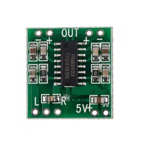 PAM8403 2X3W MINI Amplificador Dual Channel Audio Stereo Digital