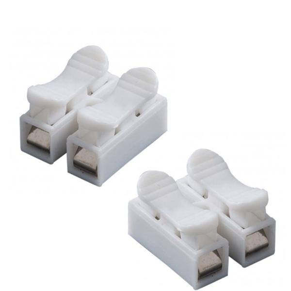5x Regleta 2 polos con clip Clema Ficha empalme para cables conexion rapido