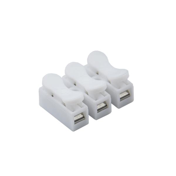 5x Regleta 3 polos con clip Clema Ficha empalme para cables conexion rapido