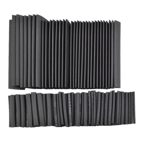 Surtido 127 PIEZAS Tubo Termoretractil de Color negro 7 DIAMETROS